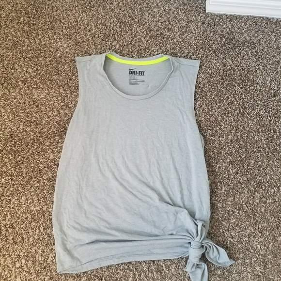 Nike dri fit tie side active tank top